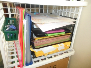 paper trays to organize our paper (printer, construction, card stock, clipboards)